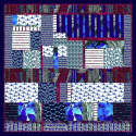 Crazy Blue Wool Scarf image