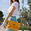 Jo Shoulder Bag Yellow Suede image