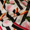 Medium Carrots & Roses Silk Scarf image