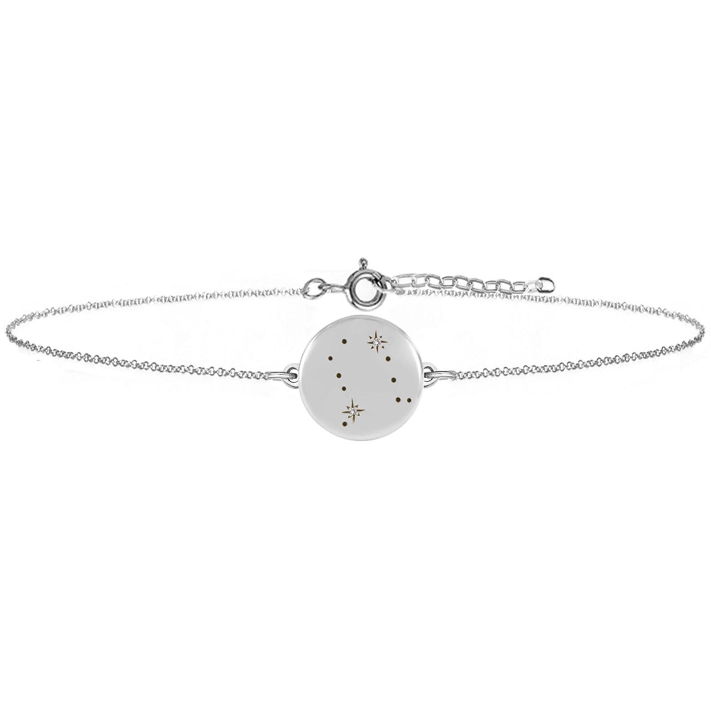 No 13 - Gemini Zodiac Constellation Bracelet - Diamonds & Silver