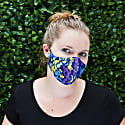Women'S Silk & Cotton Reversible Face Mask - Electric Snake image