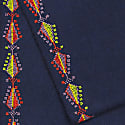 Made By Refugees Hand Embroidered Cashemre Scarf - Pine Tree Motif image