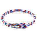 Project-Rwb Red White & Blue Padstow Silver & Rope Bracelet (M) image