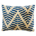 Blue Dreams Ii  Handcrafted Silk Velvet Cushion image