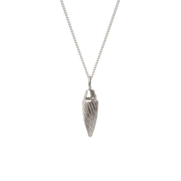 EDGE ONLY Spiral Drop Necklace in Silver