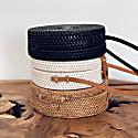 Kayu Balinese Black Round Bag image