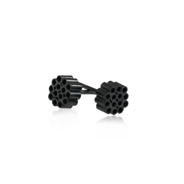 KAROLINA BIK JEWELLERY Giant's Small Earrings Black
