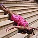 Lea Wrap Dress In Fuchsia image