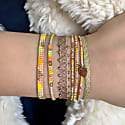 Set Of Three Bracelets In Bright Yellow And Pink image