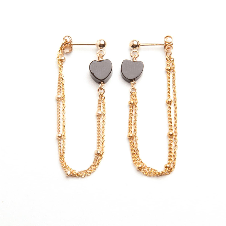 8fff8d623 Gold Love Heart Loop Chain Earrings   Alice Eden   Wolf & Badger