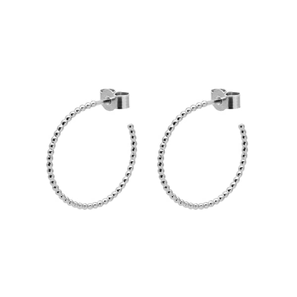 MYIA BONNER Silver Medium Ball Hoop Earrings