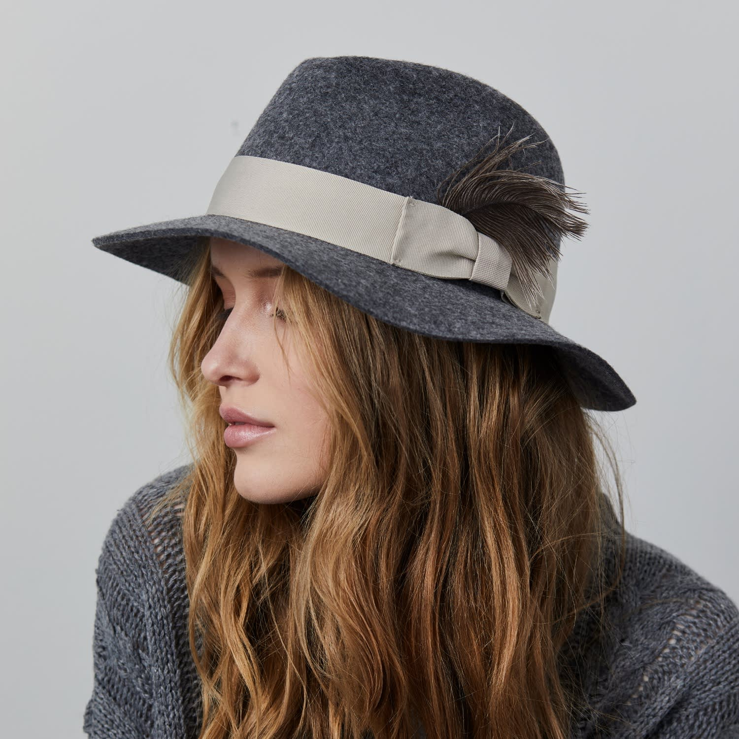 Fedora Hat With A Feather | Justine Hats | Wolf & Badger