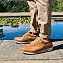 Classic Leather Trainers In Tan image
