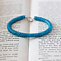 Accent Bracelet - Blue Snake Vertebrae Beads image