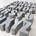 Hand Cast Concrete Letter A-Z image