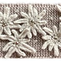 Cashmere Diadem Alpine Edelweiss In Taupe & White image