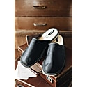 Black Leather Slippers image