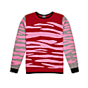 Zebra Sweater In Red & Pink image
