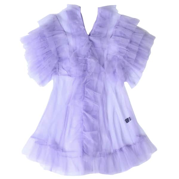 SUPERSWEET X MOUMI Tulle Babydoll In Lavender in Purple