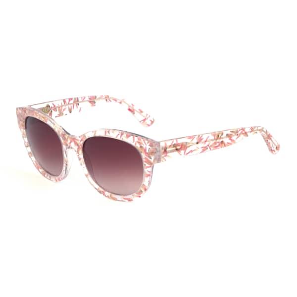 HEIDI LONDON Floral Embedded Square Sunglasses