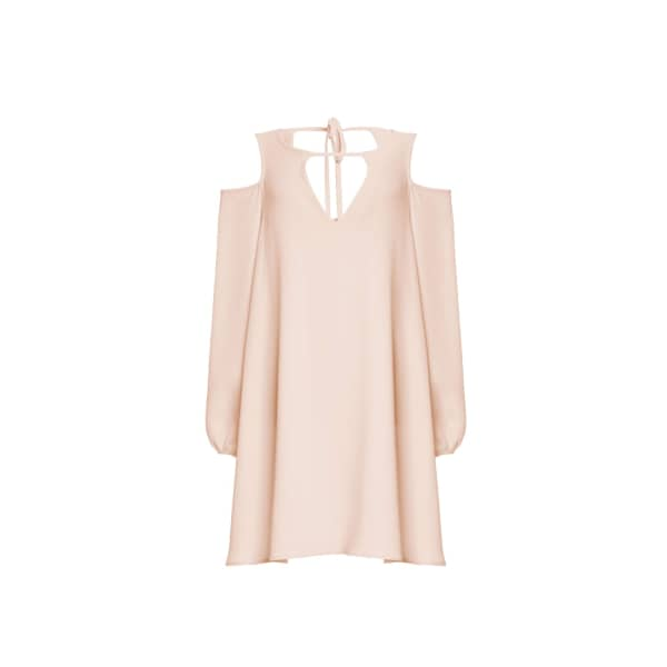 TOMCSANYI Cibulkova Cold Shoulder Dress Nude