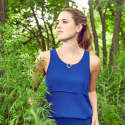 Blue Layered Chiffon Top image