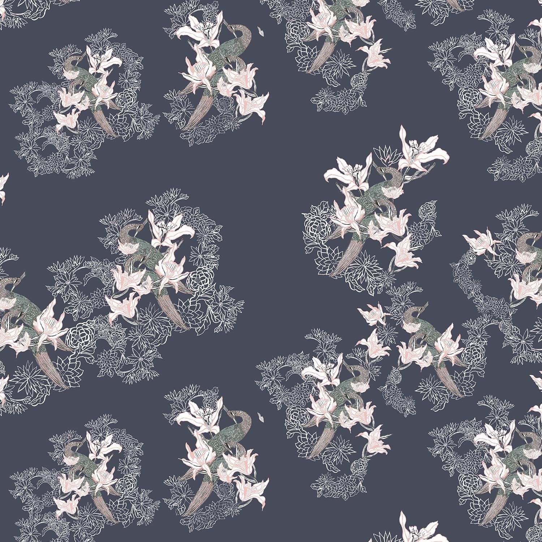 Sweet Peas Silk Kimono Robe image ee4428cb1