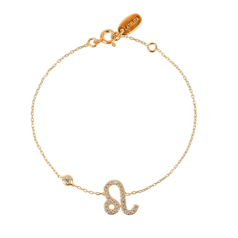 Latelita London Leo Zodiac Bracelet Gold 4vuYXaV
