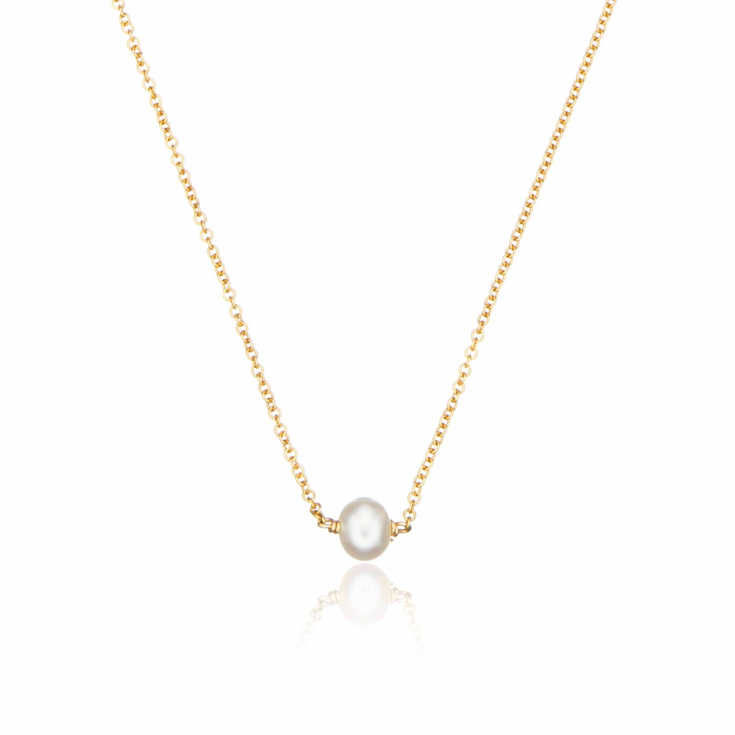 rings products pearl water necklace with fresh strand single pearls freshwater gold pink