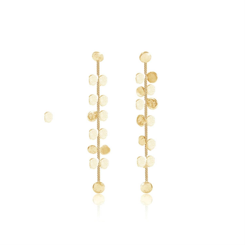 582648f177f208 Stardust Drop Earrings In Solid Gold | Lily Flo Jewellery | Wolf ...