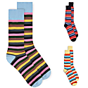 Multistripe Socks - Blue, Yellow & Black image