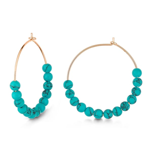 Ginette Ny Maria Turquoise Hoops