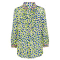 Delphine Top Blue and Yellow Hearty Print image