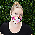 "Women's Silk & Cotton ""Sippa"" Face Mask - Austin Flowers image"
