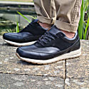 Classic Leather Trainers In Black image