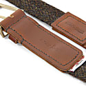 Country Brown Harris Tweed Calway Leather & Nickel Belt image