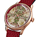 Morris & Co. Crimson Rose Gold Pimpernel - Red Perlon 30mm image