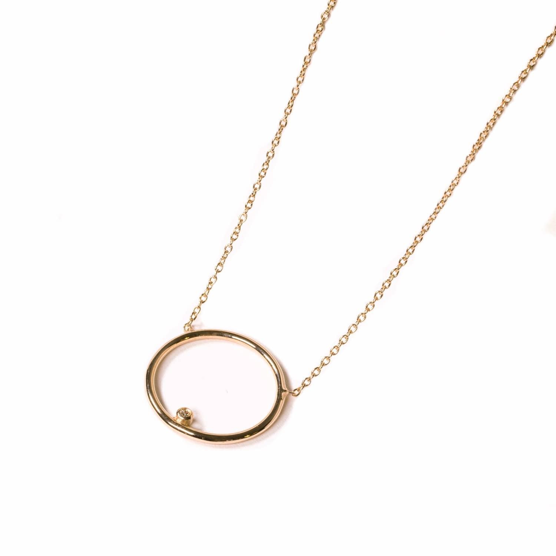 cd503dfa2 Diamond Circle Necklace Gold   Matthew Calvin   Wolf & Badger