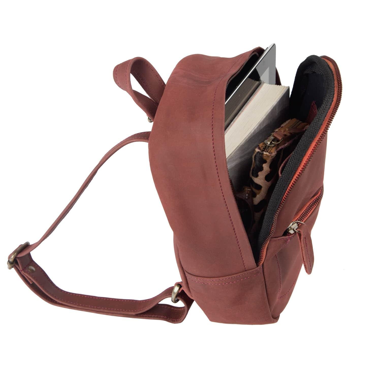 Mini Backpack In Vintage Maroon Nubuck Suede Leather image 542f91d423165