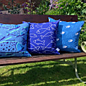 White Fish Weatherproof Outdoor Cushion image