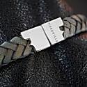 Jargon Jade Silver Leather Bracelet Serac Bracelet image