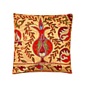 Taj Mahal Silk Suzani Ikat Double Sided Cushion image