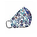 Turquoise, Blue, & Red Silk Double Layer Iznik Face Mask- Blue Center image