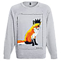 Fox With Black Crown Framed Grey Sweatshirt image