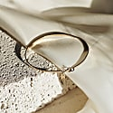 Delicate Bangle With Clasp In 14K Solid Gold image
