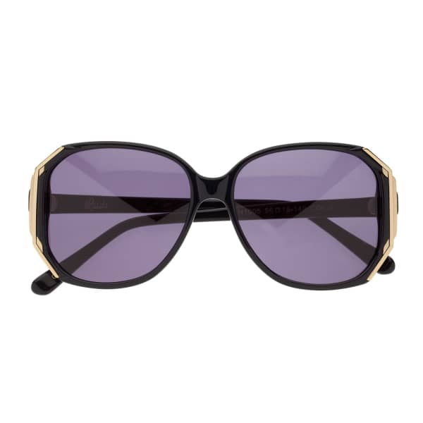 HEIDI LONDON Hexagon Sunglasses Black