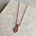 Cosmic Pineapple Necklace Rosegold image