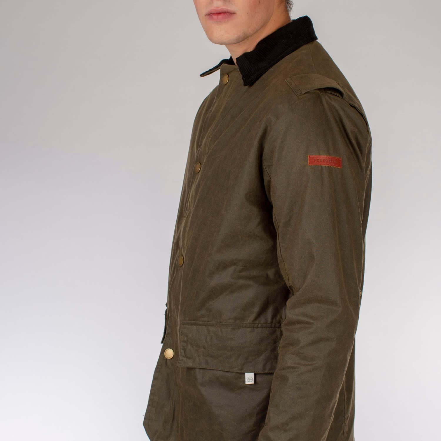 Olive All Sizes Peregrine Made In England Boarder Mens Jacket Wax