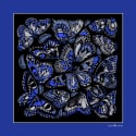The Tropical Butterfly Pocket Square - Royal Blue image