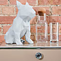 French Bulldog Geometric Sculpture Frank in Light Grey image